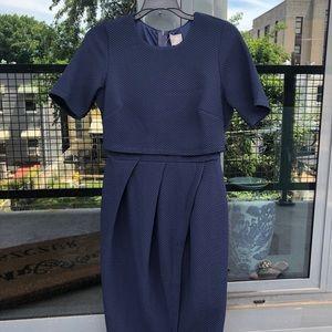 ASOS Maternity Knee Length Navy Dress